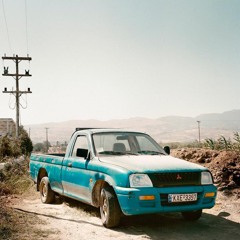 Grecja Kos 2012 - niebieski pickup (web szer 800px)